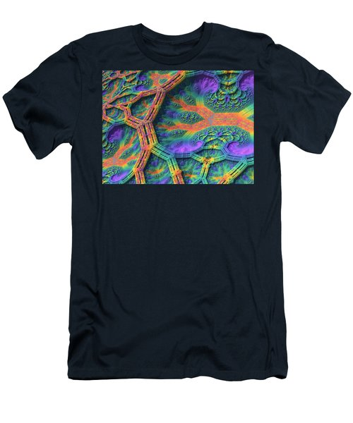 Men's T-Shirt (Slim Fit) featuring the digital art I Don't Do Drugs, Just Fractals by Lyle Hatch