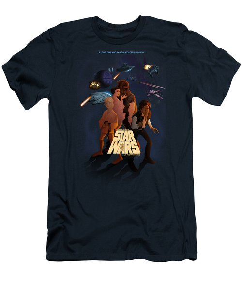 I Grew Up With Starwars Men's T-Shirt (Slim Fit) by Nelson Dedos  Garcia