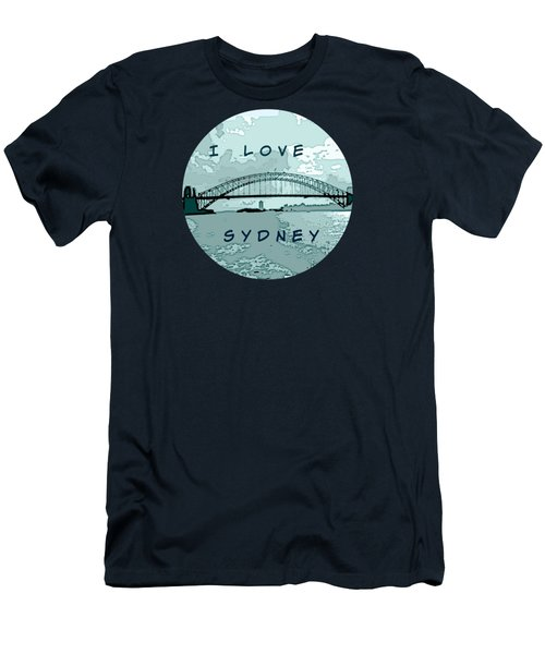 I Love Sydney Men's T-Shirt (Slim Fit) by Leanne Seymour