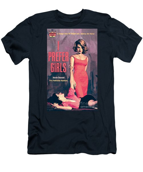 Men's T-Shirt (Slim Fit) featuring the painting I Prefer Girls by Robert Maguire