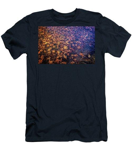 Ice On Oak Leaves Men's T-Shirt (Athletic Fit)