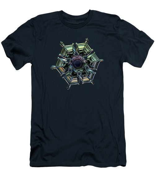 Ice Relief, Black Version Men's T-Shirt (Slim Fit) by Alexey Kljatov