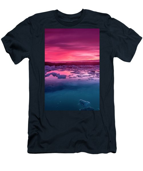 Iceberg In Jokulsarlon Glacial Lagoon Men's T-Shirt (Athletic Fit)