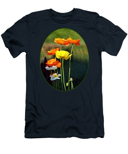 Iceland Poppies In The Sun Men's T-Shirt (Athletic Fit)