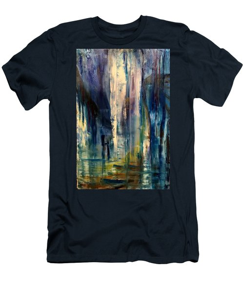 Icy Cavern Abstract Men's T-Shirt (Athletic Fit)