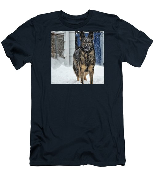 Men's T-Shirt (Slim Fit) featuring the photograph If You Dare by Nikki McInnes
