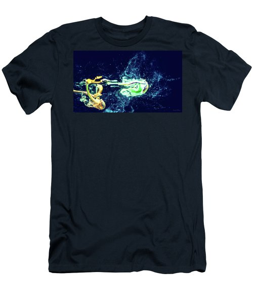 Impact - Pouring Photography Abstract Men's T-Shirt (Slim Fit) by Modern Art Prints