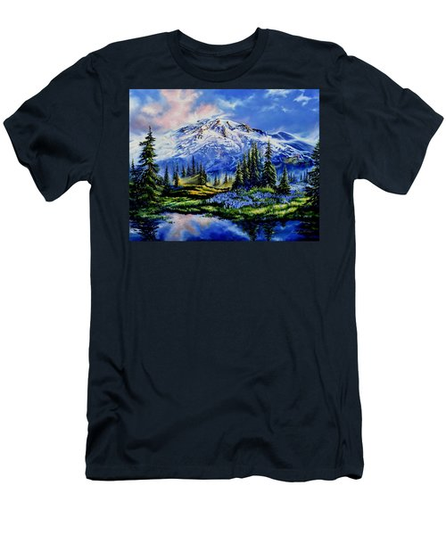 Men's T-Shirt (Athletic Fit) featuring the painting In Joyful Harmony by Hanne Lore Koehler