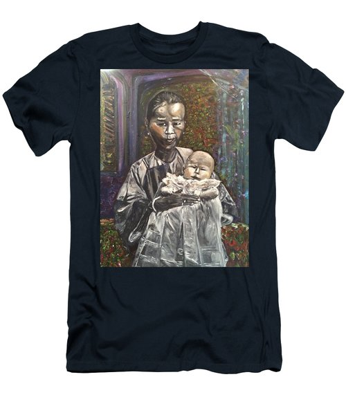 Men's T-Shirt (Slim Fit) featuring the painting In My Life by Belinda Low