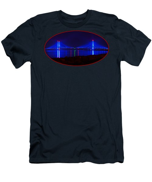 Indian River Inlet Bridge After Dark Men's T-Shirt (Athletic Fit)