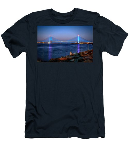 Indian River Inlet Bridge Twilight Men's T-Shirt (Athletic Fit)