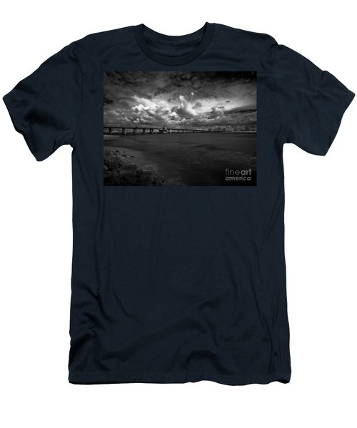 Infrared Longboat Pass Bridge Men's T-Shirt (Athletic Fit)