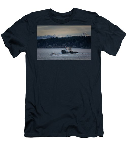 Men's T-Shirt (Slim Fit) featuring the photograph Inlet Crusader by Randy Hall
