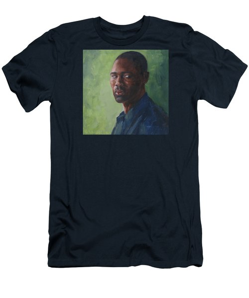 Intense Gaze Men's T-Shirt (Slim Fit) by Connie Schaertl