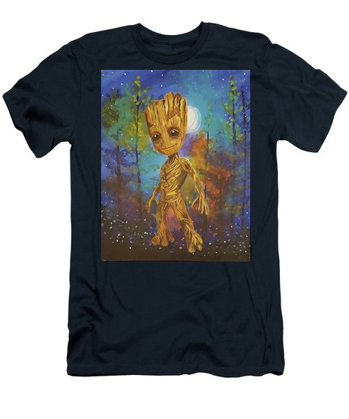Into The Eyes Of Baby Groot Men's T-Shirt (Athletic Fit)