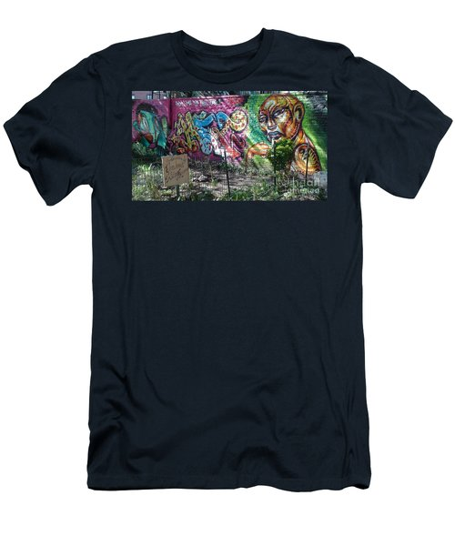 Men's T-Shirt (Slim Fit) featuring the photograph Isham Park Graffiti  by Cole Thompson