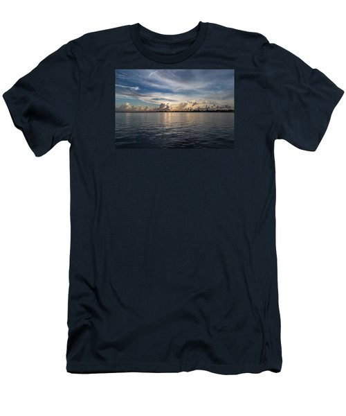 Island Horizon Men's T-Shirt (Slim Fit) by Christopher L Thomley