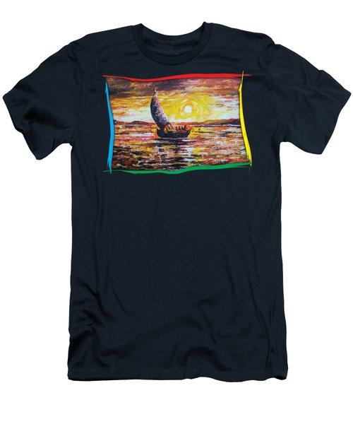 Island Sunset Men's T-Shirt (Athletic Fit)