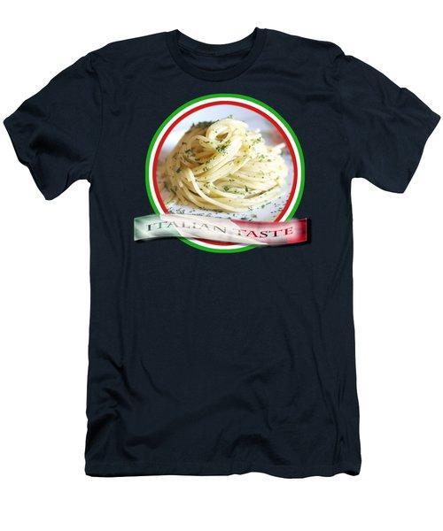 Italian Taste Spaghetti Men's T-Shirt (Athletic Fit)
