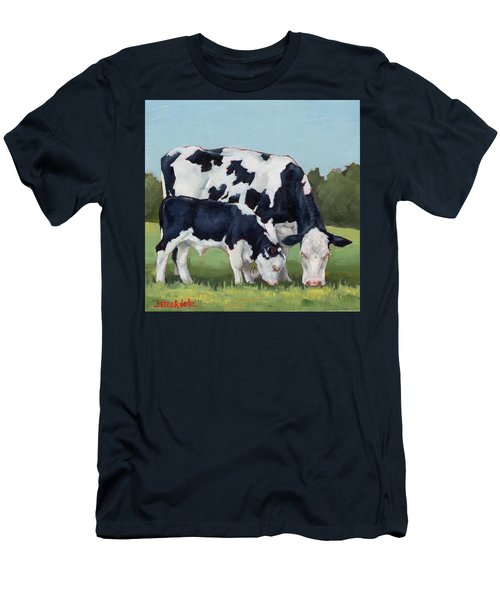 Ivory And Calf Mini Painting  Men's T-Shirt (Athletic Fit)
