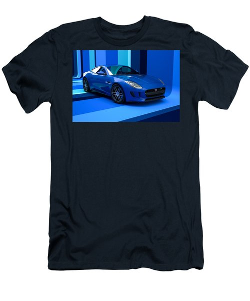 Jaguar F-type - Blue Retro Men's T-Shirt (Athletic Fit)