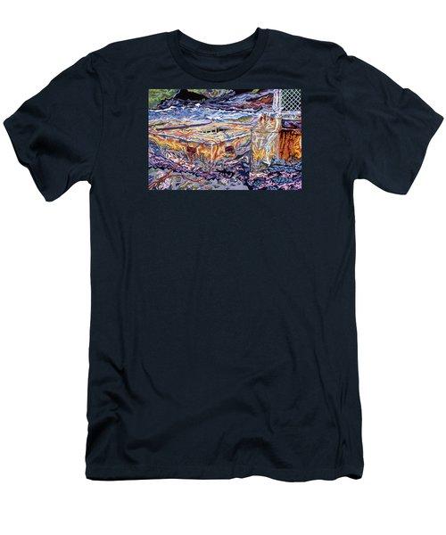 Jamestown Sea Construction Site Men's T-Shirt (Slim Fit) by Robert SORENSEN