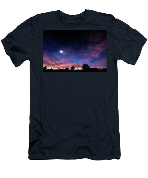 January 31, 2016 Sunset Men's T-Shirt (Slim Fit) by Karen Slagle