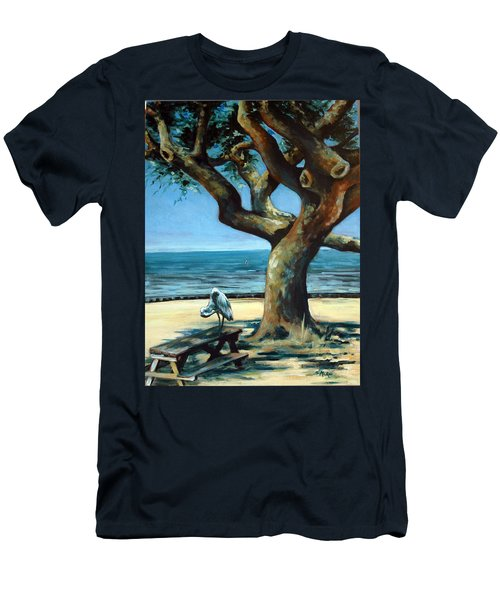 Men's T-Shirt (Slim Fit) featuring the painting January Afternoon by Suzanne McKee