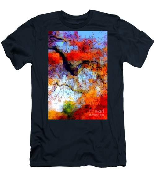 Japanese Maple Geometry Men's T-Shirt (Athletic Fit)
