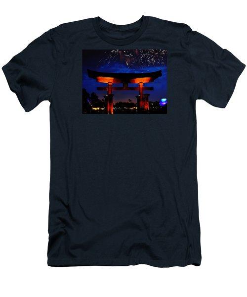 Japanese Torii Men's T-Shirt (Slim Fit) by William Bartholomew