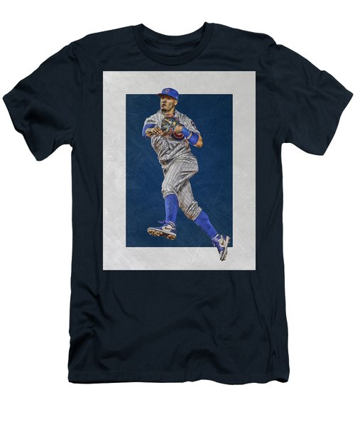 Javier Baez Chicago Cubs Art Men's T-Shirt (Athletic Fit)
