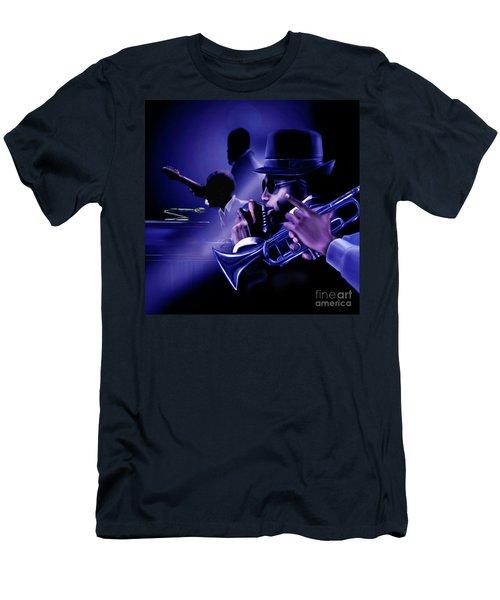Jazz In Da Dusk Men's T-Shirt (Athletic Fit)