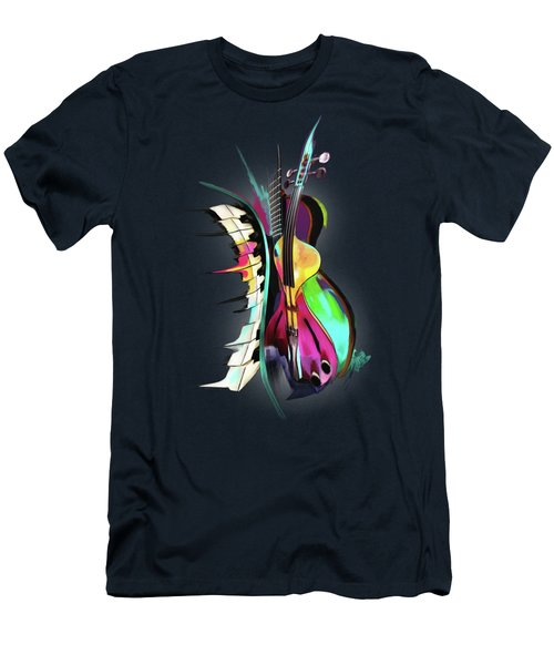 Jazz Men's T-Shirt (Slim Fit) by Melanie D