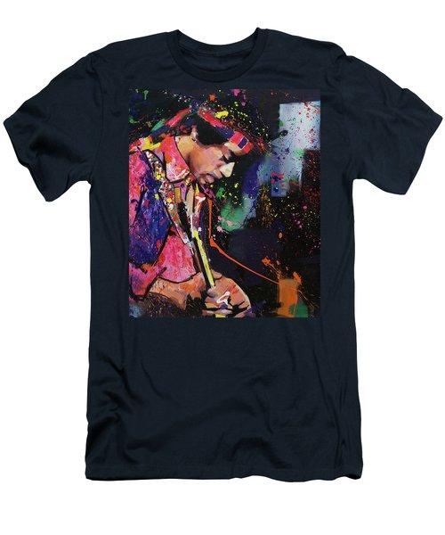 Jimi Hendrix II Men's T-Shirt (Slim Fit) by Richard Day