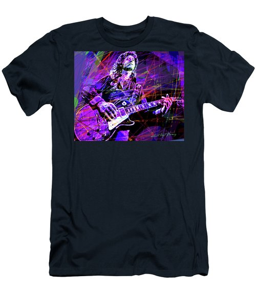 Jimmy Page Solos Men's T-Shirt (Slim Fit) by David Lloyd Glover