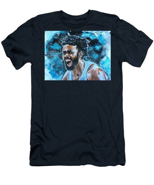Men's T-Shirt (Athletic Fit) featuring the painting Joel Berry II by Joel Tesch