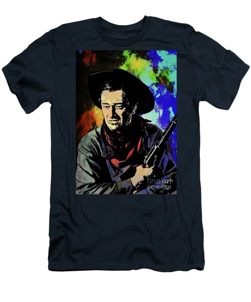 Men's T-Shirt (Slim Fit) featuring the painting John Wayne, by Andrzej Szczerski