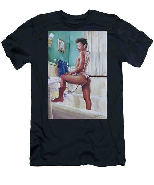 Jon In The Bathtub Men's T-Shirt (Athletic Fit)