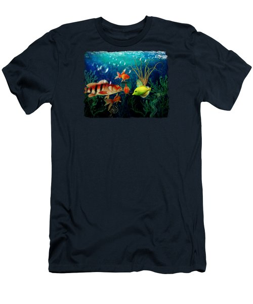 Joy To The Fishes  Men's T-Shirt (Slim Fit) by Terry Fleckney
