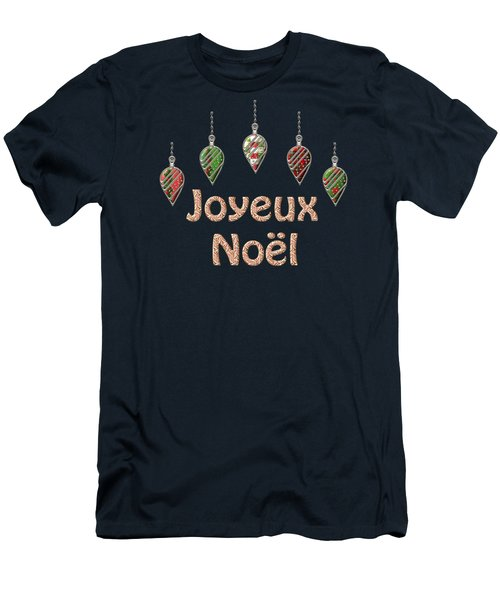 Joyeux Noel  French Merry Christmas Men's T-Shirt (Athletic Fit)