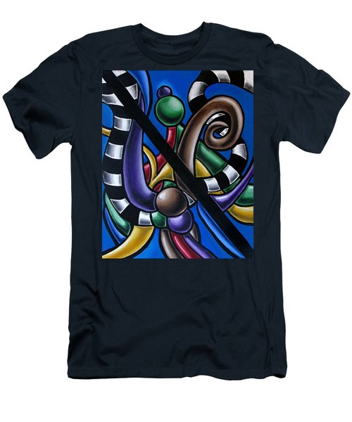 Original Colorful Abstract Art Painting - Multicolored Chromatic Artwork Men's T-Shirt (Athletic Fit)