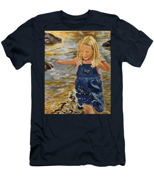 Kate Splashing Men's T-Shirt (Athletic Fit)