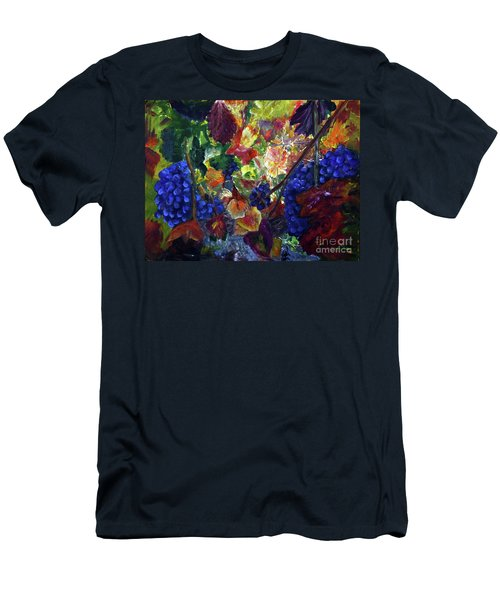 Katy's Grapes Men's T-Shirt (Slim Fit) by Donna Walsh