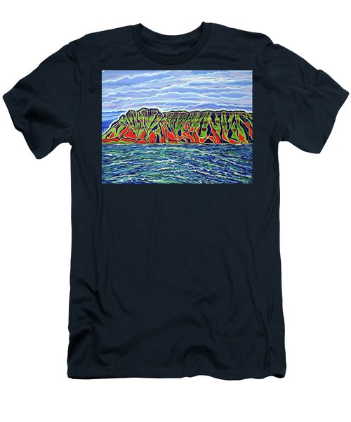 Kauai Men's T-Shirt (Slim Fit) by Debbie Chamberlin