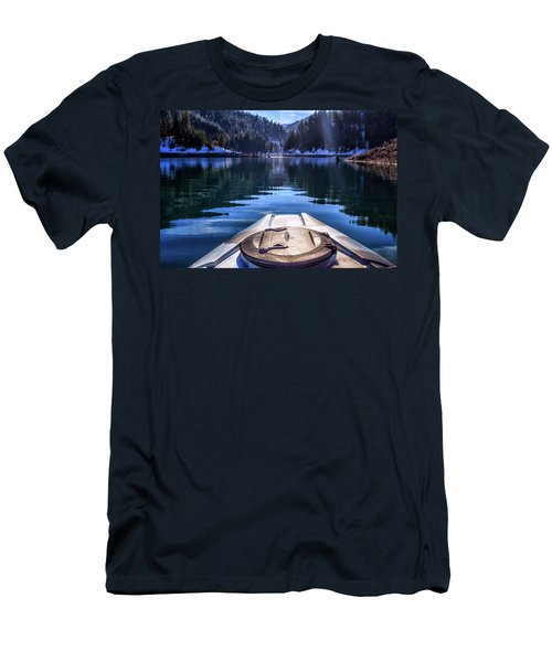 Kayaking In Mccloud Men's T-Shirt (Athletic Fit)
