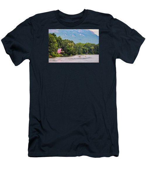 Kayaking On Nashawannuck Pond Easthampon Men's T-Shirt (Athletic Fit)