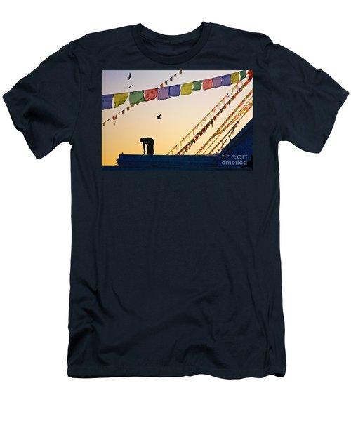 Men's T-Shirt (Slim Fit) featuring the photograph Kdu_nepal_d113 by Craig Lovell