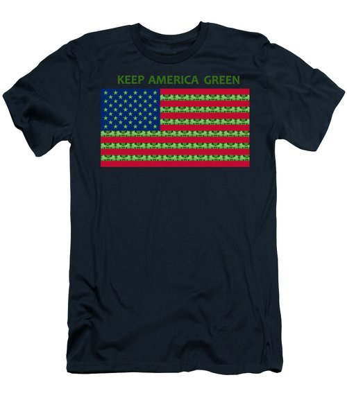 Keep America Green Usa Flag Men's T-Shirt (Athletic Fit)