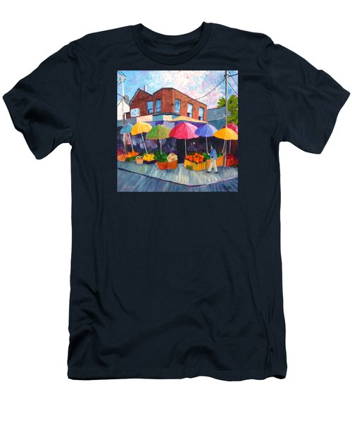 Kensington Market Men's T-Shirt (Slim Fit) by Diane Arlitt