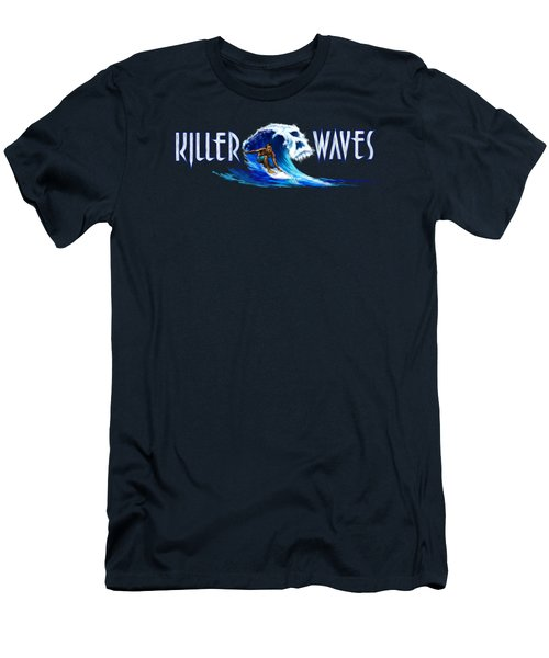 Killer Waves Dude Men's T-Shirt (Athletic Fit)